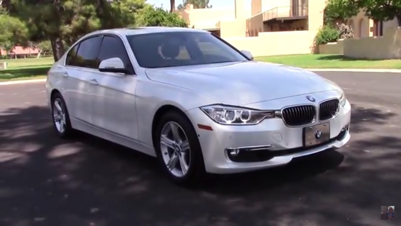 bmw 2013 white. 2013 bmw f30 328i luxury line sport sedan in mineral white metallic youtube bmw i