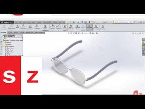 SOLIDWORKS Sunglasses TUTORIAL 2014