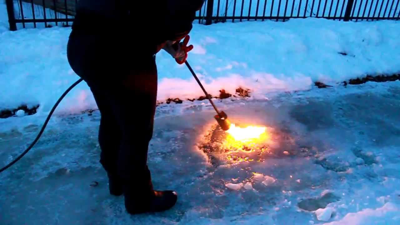 How To Remove Thick Ice From A Sidewalk Youtube