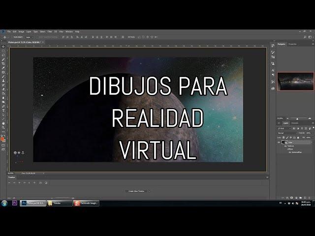 Dibujos VR 360 en Photoshop (2 minutos)
