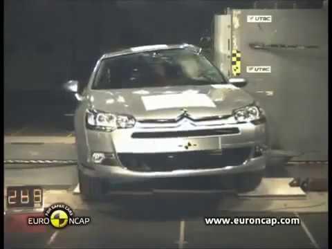 Euro NCAP   Citroen C5   2016  Crash test çarpışma testi sağlamlık