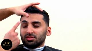 barber eyebrow shaping on a taper cut eyebrow shape up tutorial
