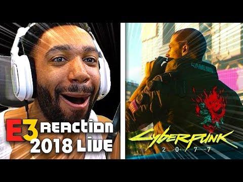 CYBERPUNK 2077 LIVE REACTION! - XBOX [E3 2018] | runJDrun