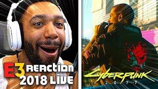CYBERPUNK 2077 LIVE REACTION! - XBOX [E3 2018]