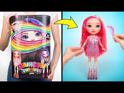 Распаковываем Красивую Куклу с Одеждой, Которую Можно Украсить По-своему | Пупси Радужный Сюрприз