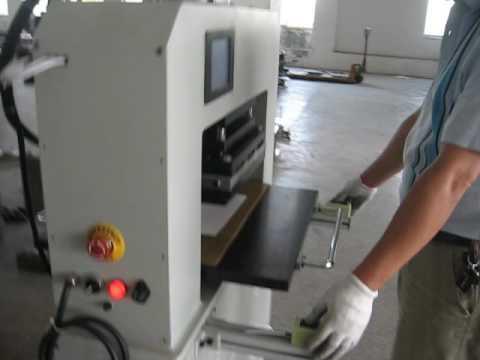 458 10T Pneumatic Creasing PVC Plastic Card Linen Die Cutting Machine
