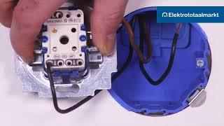 Busch-Jaeger dimmer 6523 U-102 in wisselschakeling aansluiten - Elektrototaalmarkt.nl