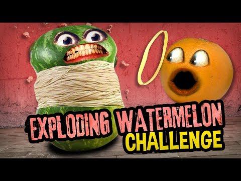 Annoying Orange - Exploding Watermelon Challenge!