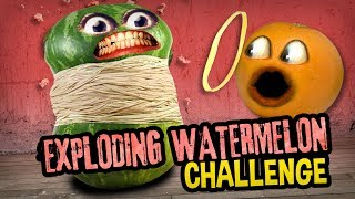 Annoying Orange - Exploding Watermelon Challenge!