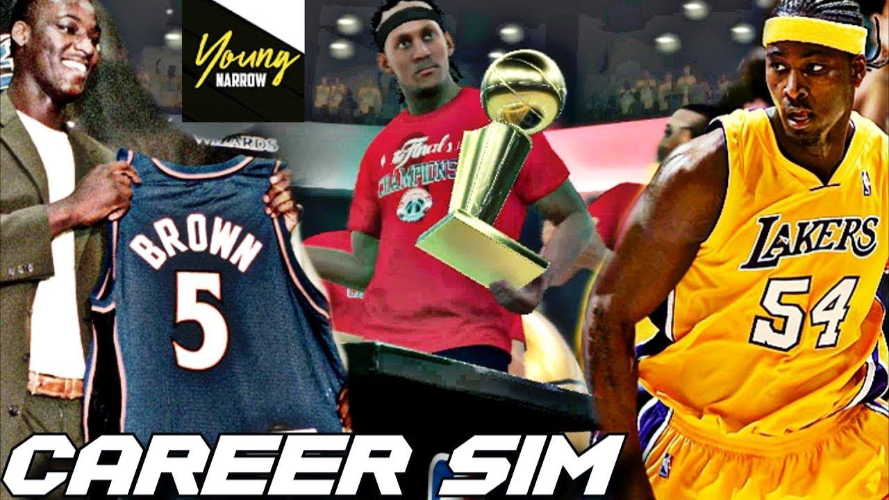 52911089c KWAME BROWN S HALL OF FAME NBA CAREER SIMULATION ON NBA 2K18!! THE NEXT  EMBIID !