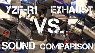 15-17 Yamaha YZF-R1 Exhaust Sound Comparison from Sportbiketrackgear.com