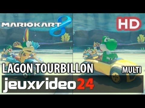 Mario Kart 8 - Lagon Tourbillon Gameplay HD - Multi (Wii U)