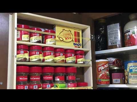 RV DIY Spice Rack