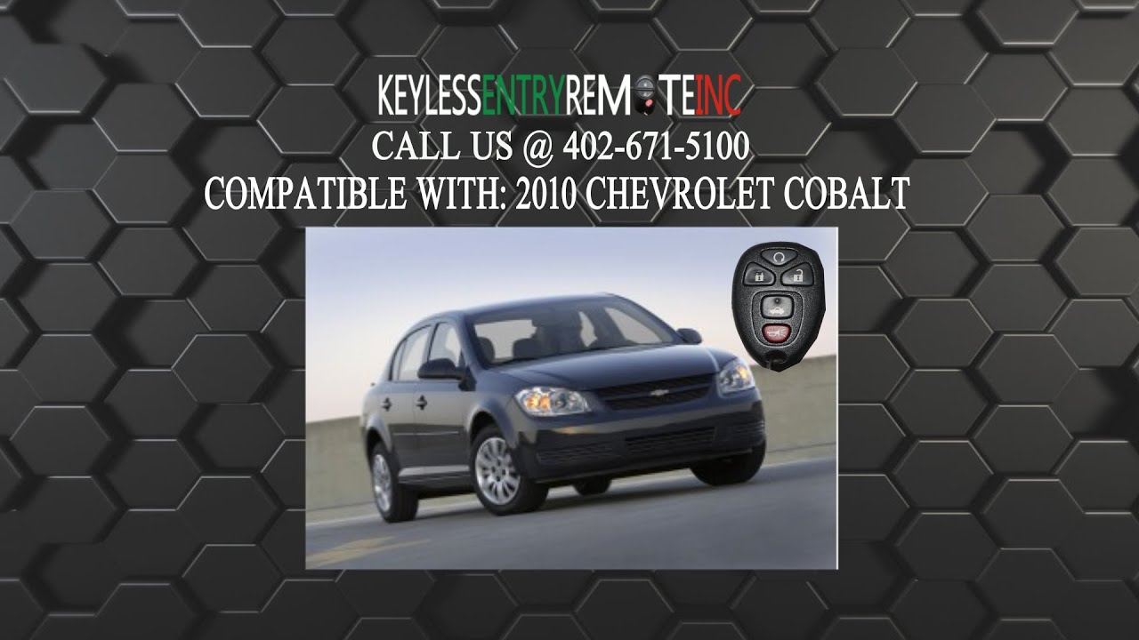How To Replace Chevrolet Cobalt Key Fob Battery 2010 - YouTube