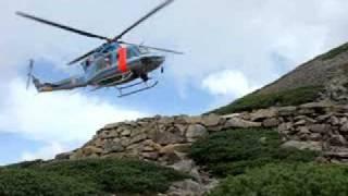 7月20日の笠ヶ岳での岐阜県警航空隊による離発着の訓練!NO1