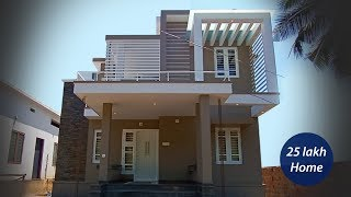 Contemporary style double story home built for 25 lakh    Video tour