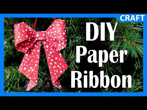 DIY Paper Craft Ribbon | Easy DIY Christmas Ornament Project