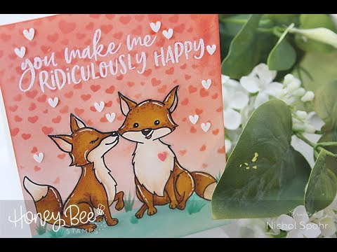 Honey Bee Stamps  Masking & Stenciling A Background