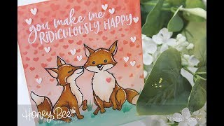 Honey Bee Stamps Masking & Stenciling A Background * * * SUPPLIES L...