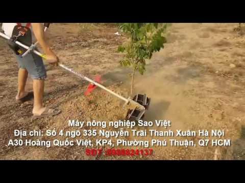 Máy xạc cỏ xới đất cầm tay honda GX35 cần thẳng giá rẻ