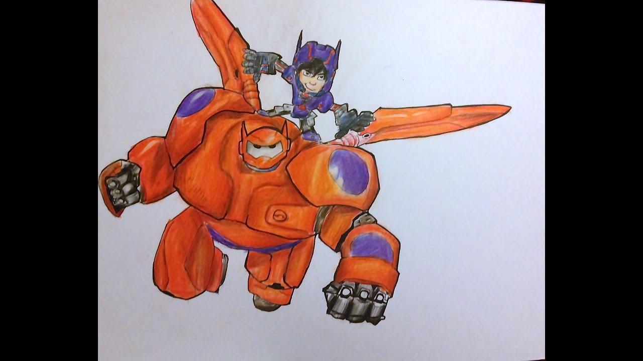 Cómo Dibujar A Baymax Y Hiro 6 Grandes Heroes How To Draw Baymax And Hiro Big Hero 6 Disney