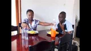 Repeat youtube video Kansiime Anne says the food prayer!!