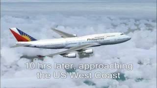 PAL102 Manila to Los Angeles - Full flight (FS2004)