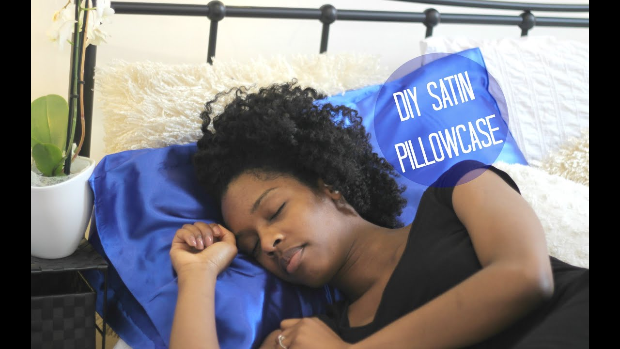 Diy Satin Pillowcase: DIY No Sew Satin Pillowcase   Night Time Hair Care   YouTube,