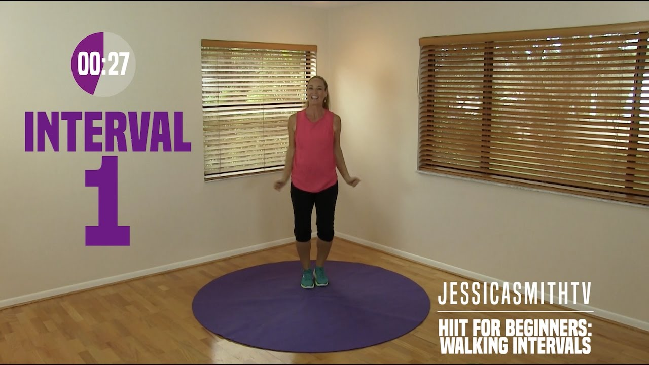 Hiit For Beginners Walking Interval Cardio Workout Low Impact Fat Burning