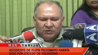 ACCIDENTE DE FLOTA PILCOMAYO HABRÍA SIDO POR EXCESO DE VELOCIDAD