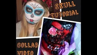 Halloween Sugar Skull Tutorial - Collab with Rachel Melia Thumbnail