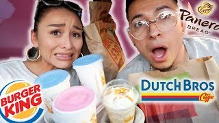 Letting the Person In Front of Me DECIDE What I Eat for 24 HOURS! | YesHipolito