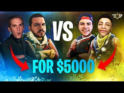 $5,000 TOURNAMENT MATCH!!! - Myth & Nadeshot vs TeePee & CouRage (Fortnite: Battle Royale)
