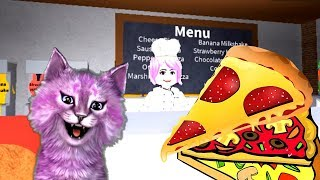 ГОТОВИМ ПИЦЦУ в ROBLOX своя пиццерия говорящая КОШКА ЛАНА играет детский летсплей