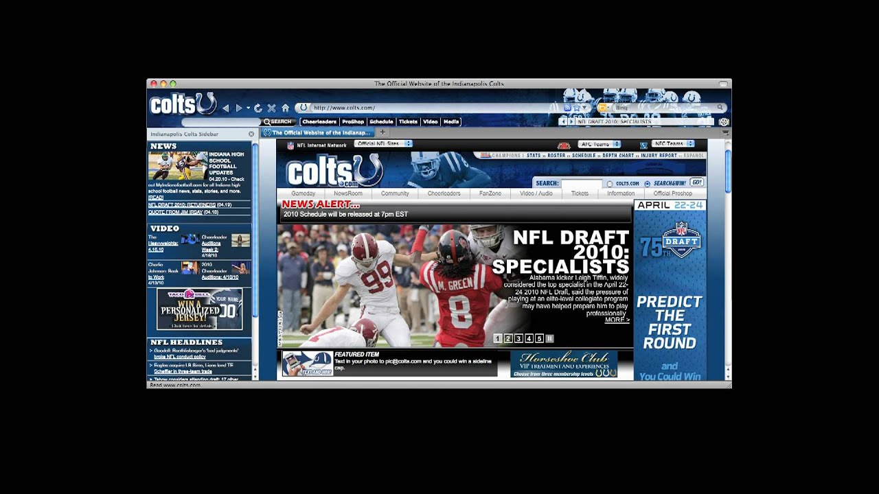 Free download: colts firefox and ie browser theme from brand.
