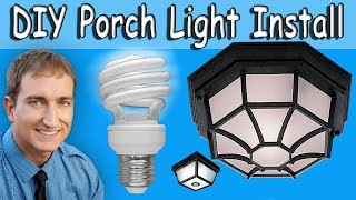 How to replace and install a porch light fixture