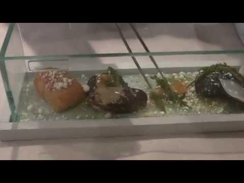 Tasos prepares a dish at the Michelin star Botrini's in Athens