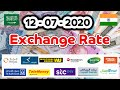 Today (12/07/2020) Exchange Rate SR to INR