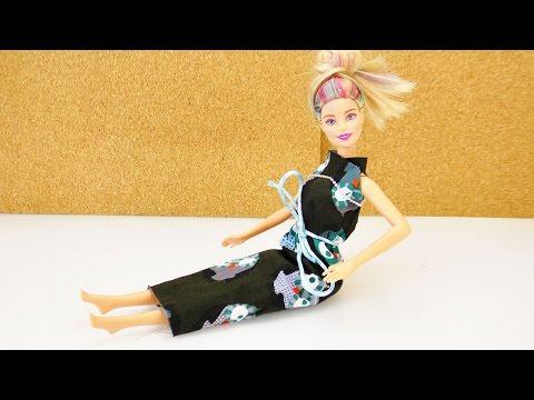 BarbieKleid selber machen | Kleidung für Puppe in 5 Minuten ohne Nähen | DIY for Kids