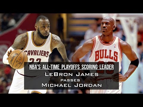 LeBron James passes Michael Jordan as NBA's all-time playoffs scoring leader