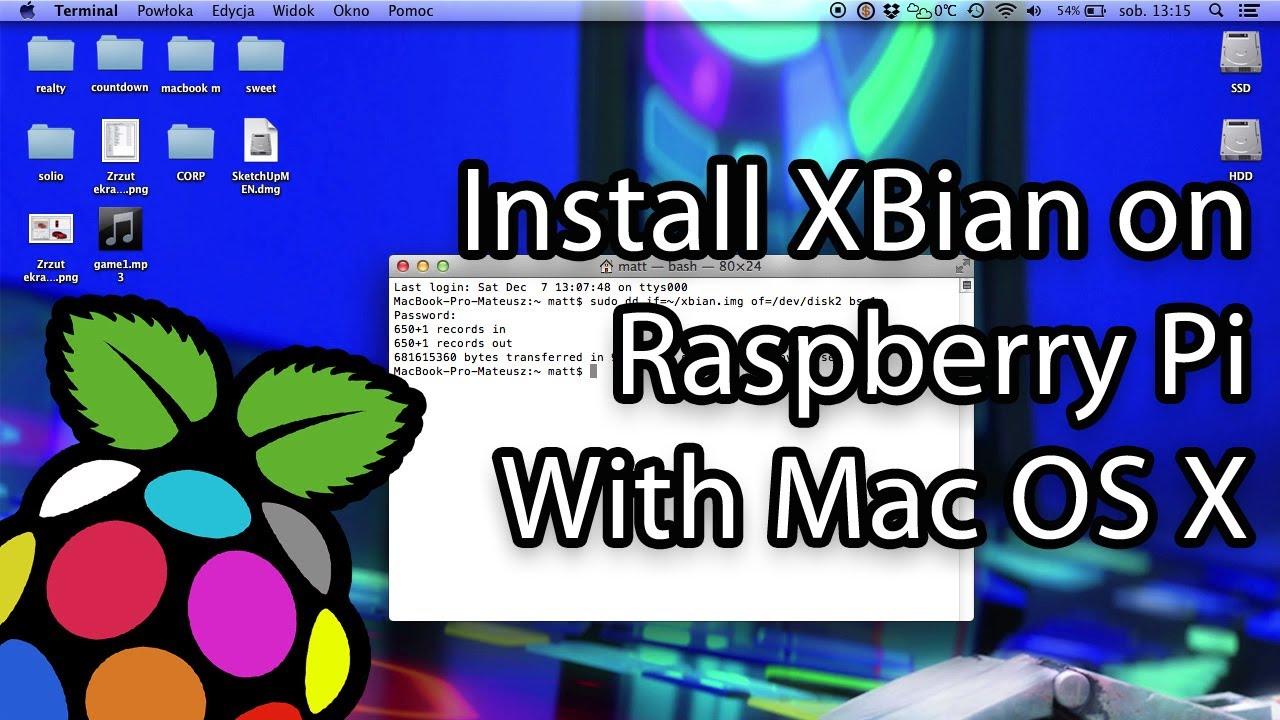 How to install XBian on SD card with Mac OS X (XBMC, Kodi, Raspberry Pi)