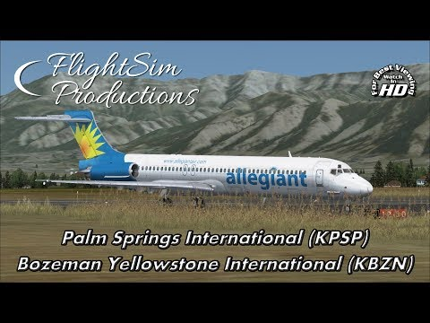 Palm Springs International to Bozeman Yellowstone International [FSX]