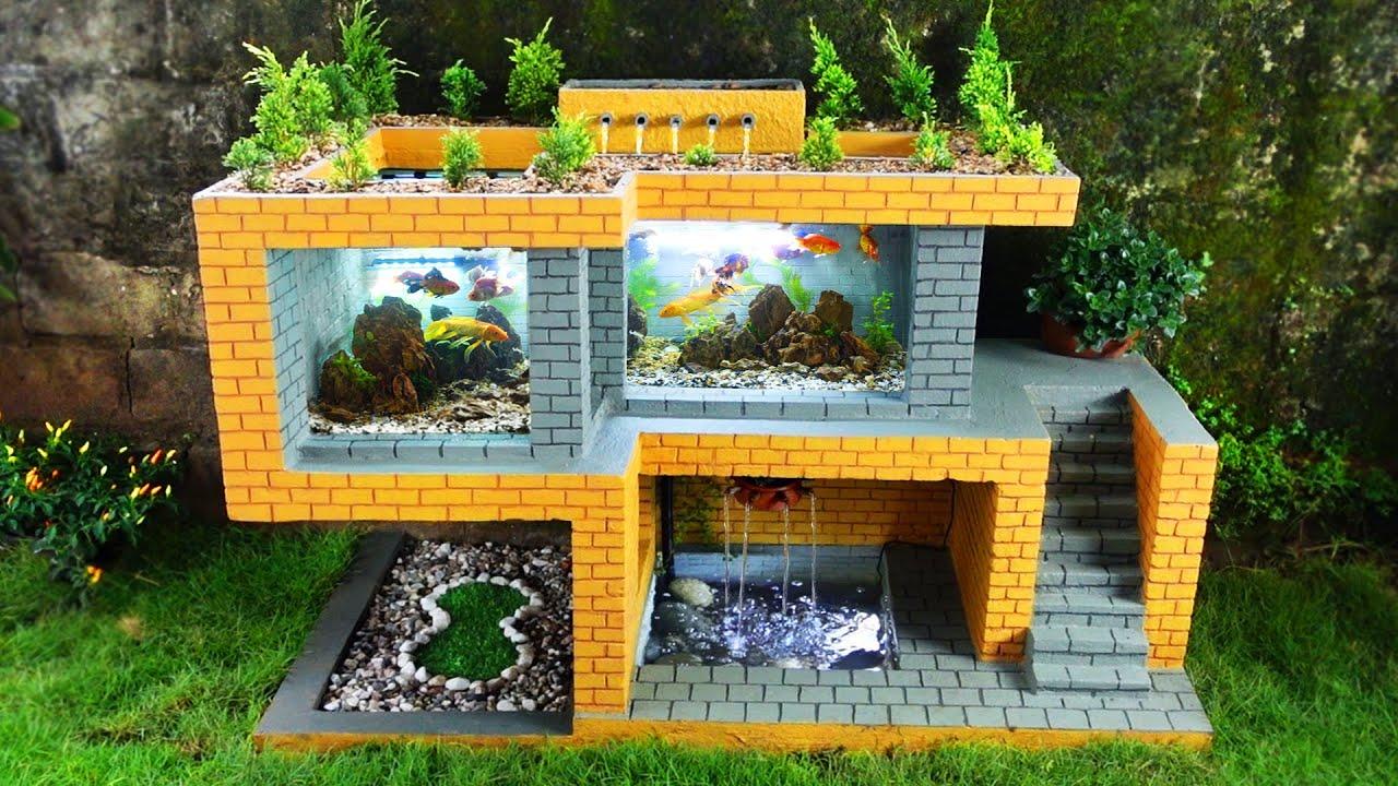 Build a beautiful modern villa for fish