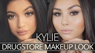 DRUGSTORE DUPE KYLIE JENNER MAKEUP ROUTINE w/ Roxette Arisa!