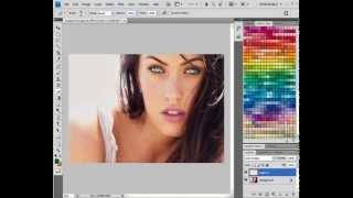 Como colorir os olhos no photoshop cs4.   Fácil.
