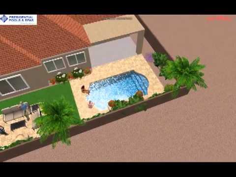 Custom pool design by noah ingegneri of presidential pools for Pool design tucson