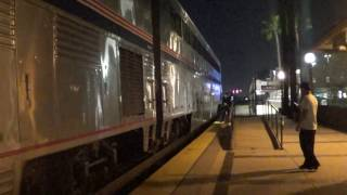 Amtrak #4 Southwest Chief departing Fullerton station with marty ann 2017-03-11
