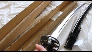 Tozando Toryumon Classic Koshirae iaito sword unboxing and Standard White Oak Bokken