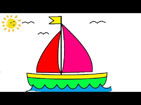 HOW TO DRAW BOAT IN MS PAINT - Hướng dẫn vẽ thuyền cực dễ  MS Paint -  Tin học lớp 3