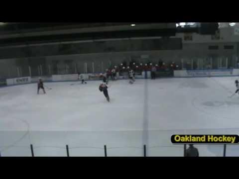 Oakland University Hockey Brett Haugh goal vs Libe...